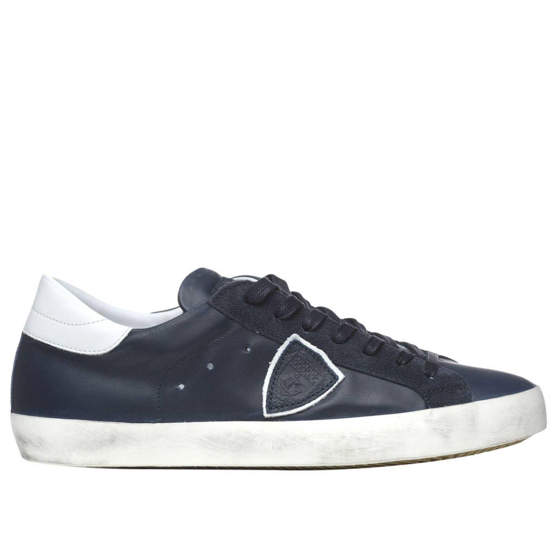 Shoes men Philippe Model blue 1