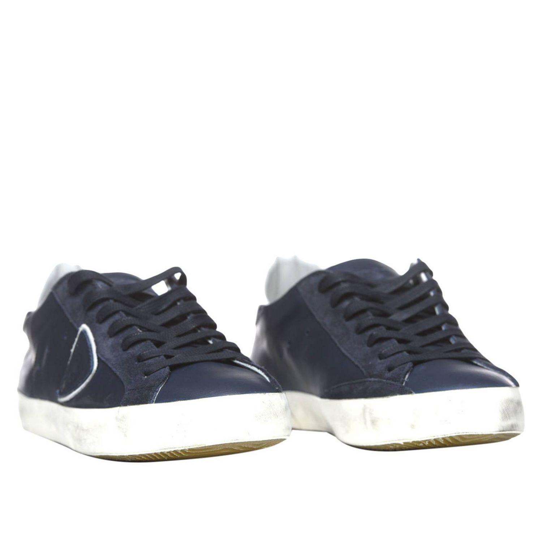Shoes men Philippe Model blue 2