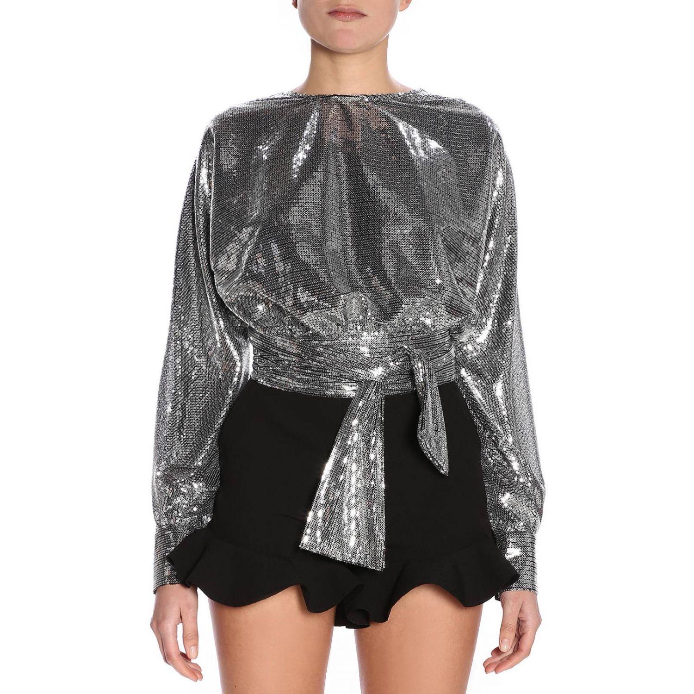 Camisa mujer Msgm plata 1