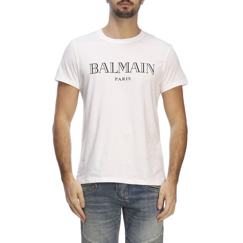 Футболка Balmain: Футболка Мужское Balmain белый 1