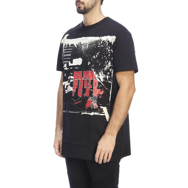 T恤 男士 Balmain 黑色 2
