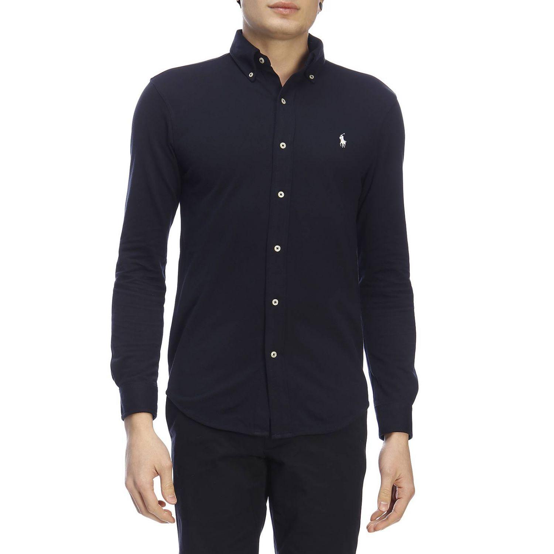 Camisa hombre Polo Ralph Lauren azul marino 1