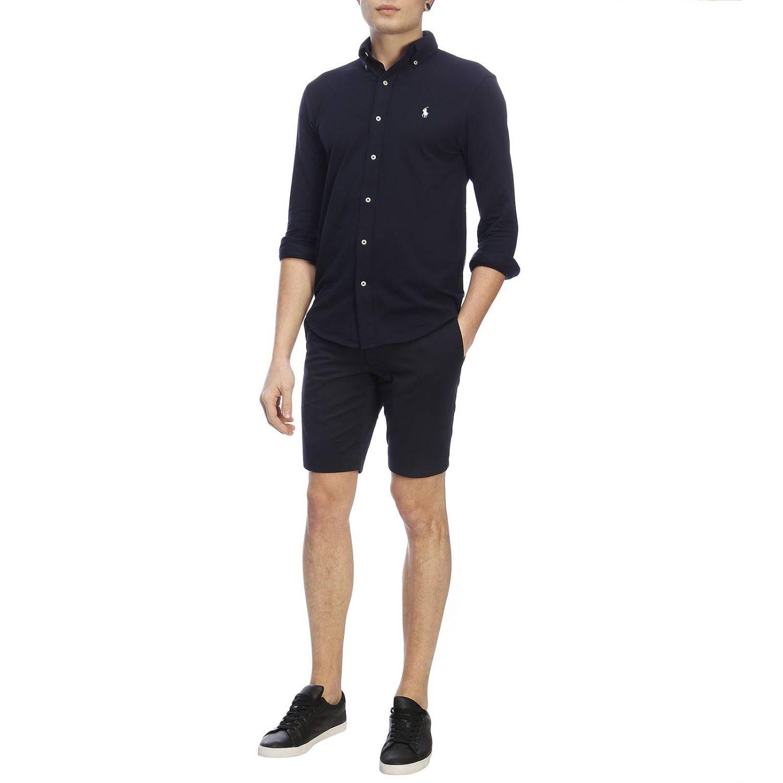 Camisa hombre Polo Ralph Lauren azul marino 4