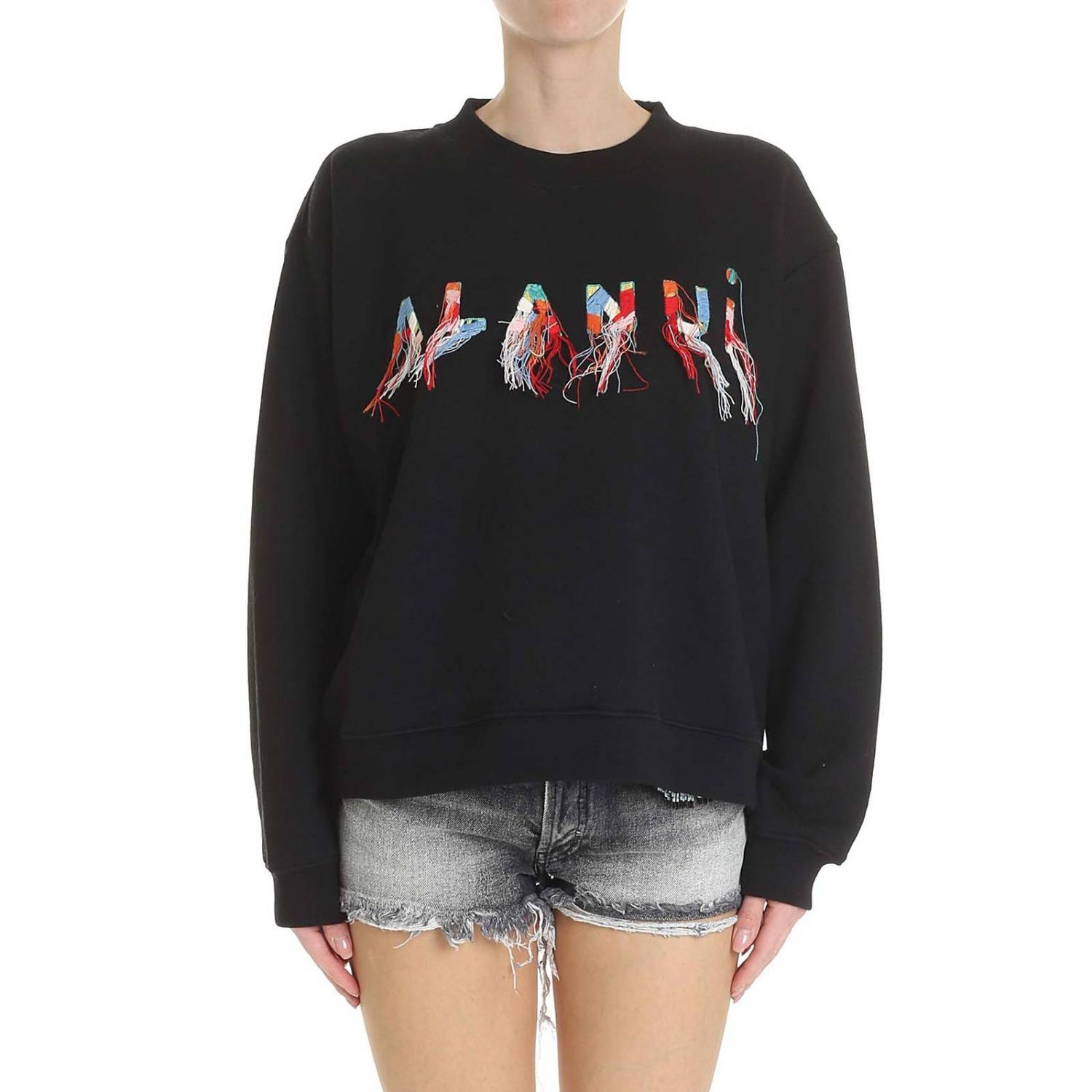 Sweat-shirt Alanui: Sweat-shirt femme Alanui noir 1