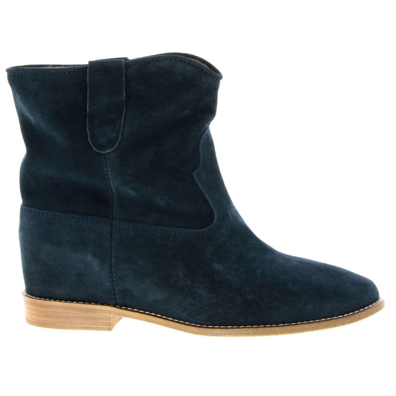 Zapatos mujer Isabel Marant petróleo azul 1