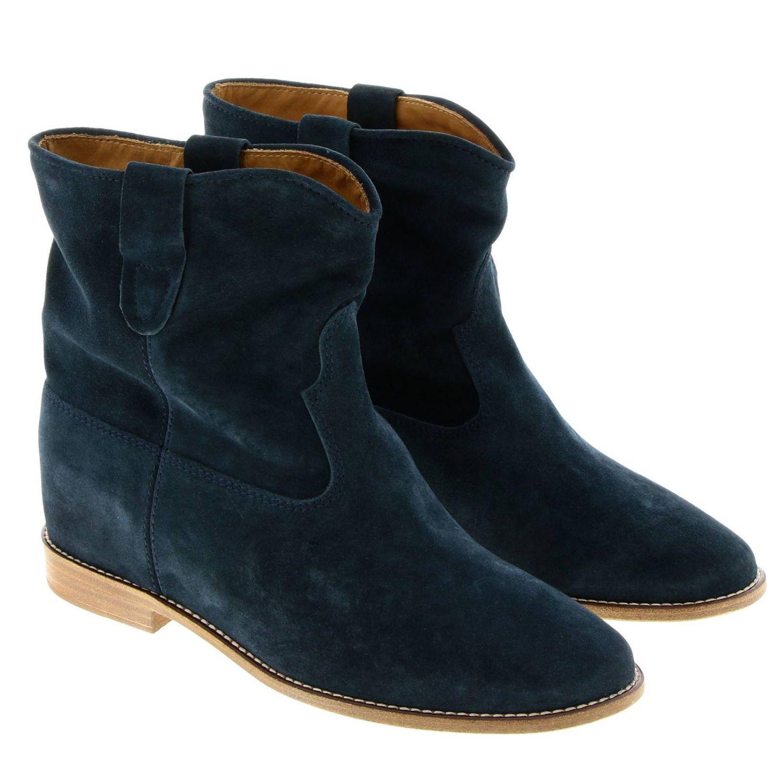 Zapatos mujer Isabel Marant petróleo azul 2