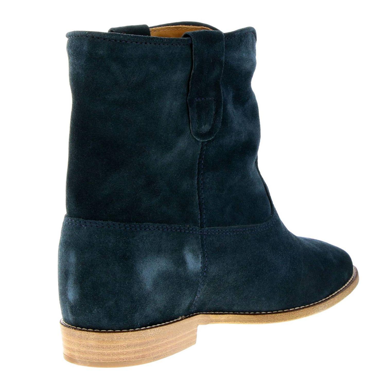 Zapatos mujer Isabel Marant petróleo azul 4