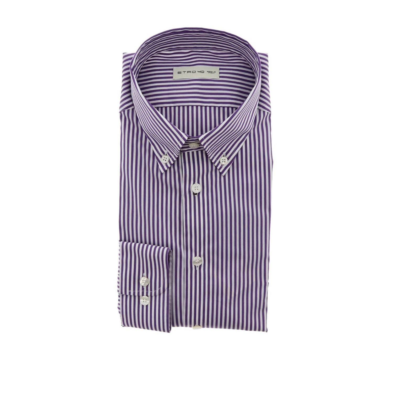 Chemise homme Etro violet 1