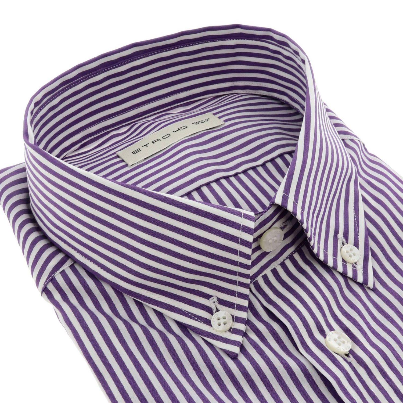 Chemise homme Etro violet 2