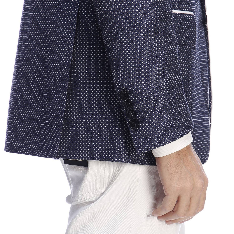 Giacca Billionaire monopetto a due bottoni con stemma blue 4