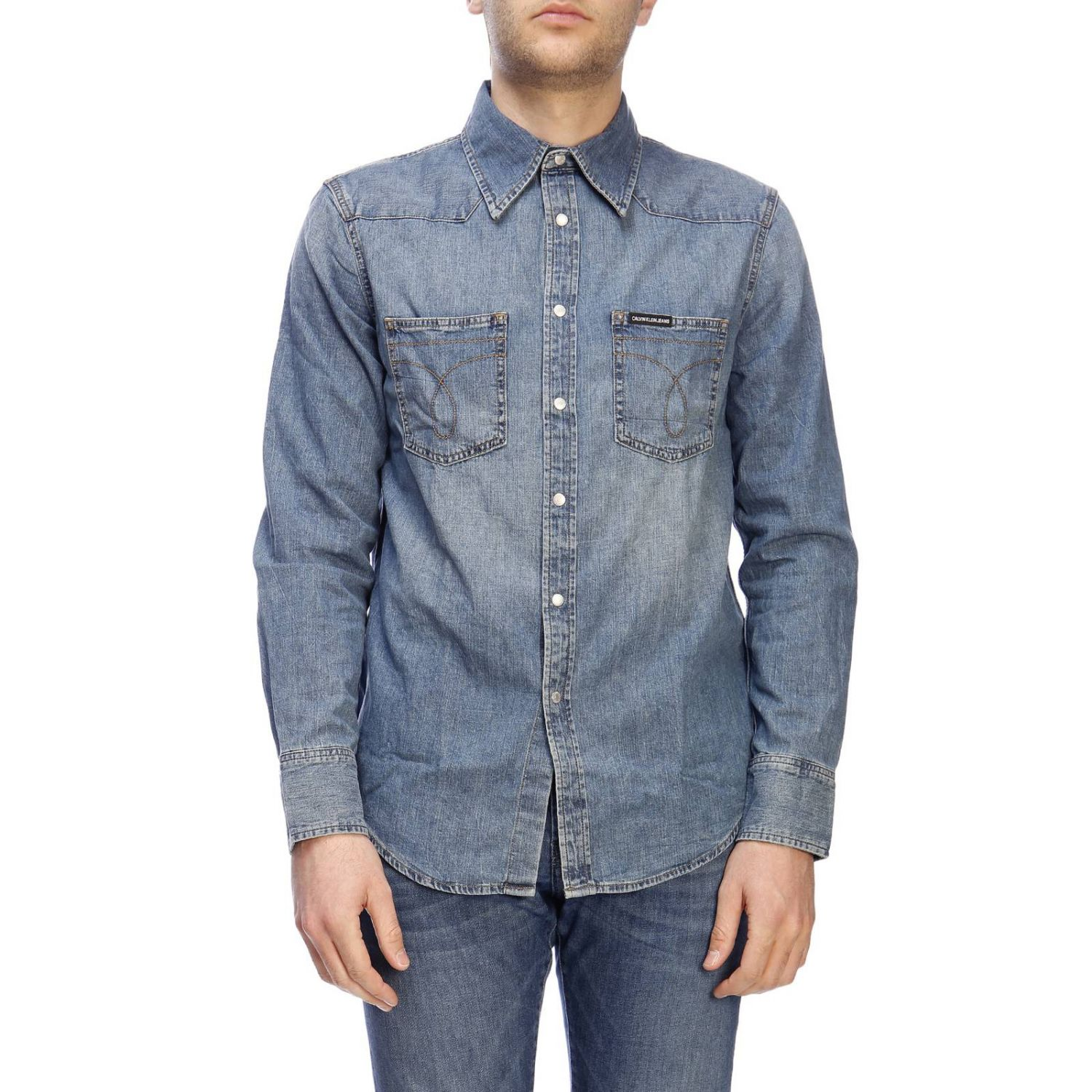 Camicia Calvin Klein Jeans in denim used denim 1