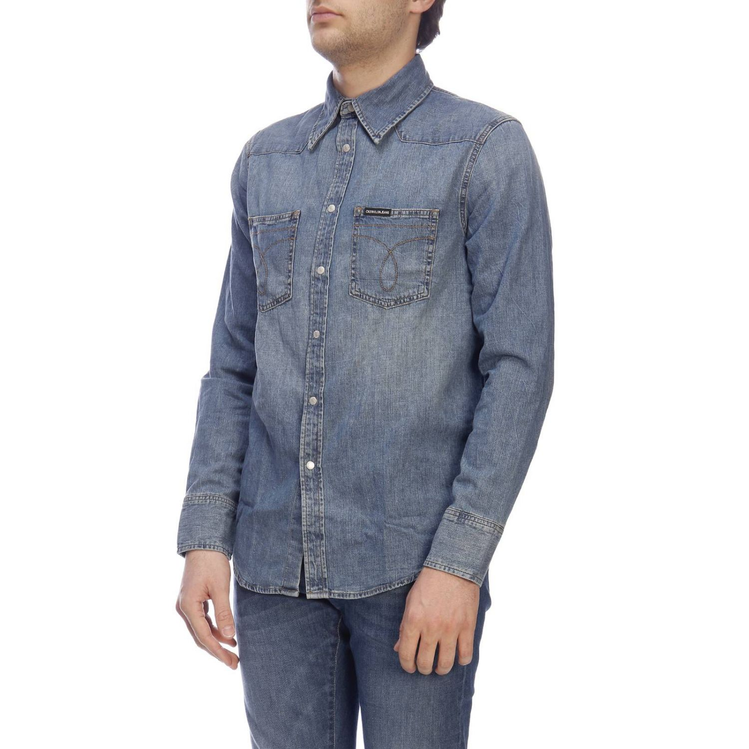 Camicia Calvin Klein Jeans in denim used denim 2