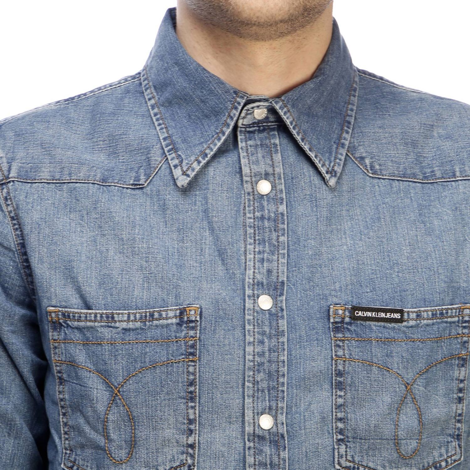 Camicia Calvin Klein Jeans in denim used denim 4