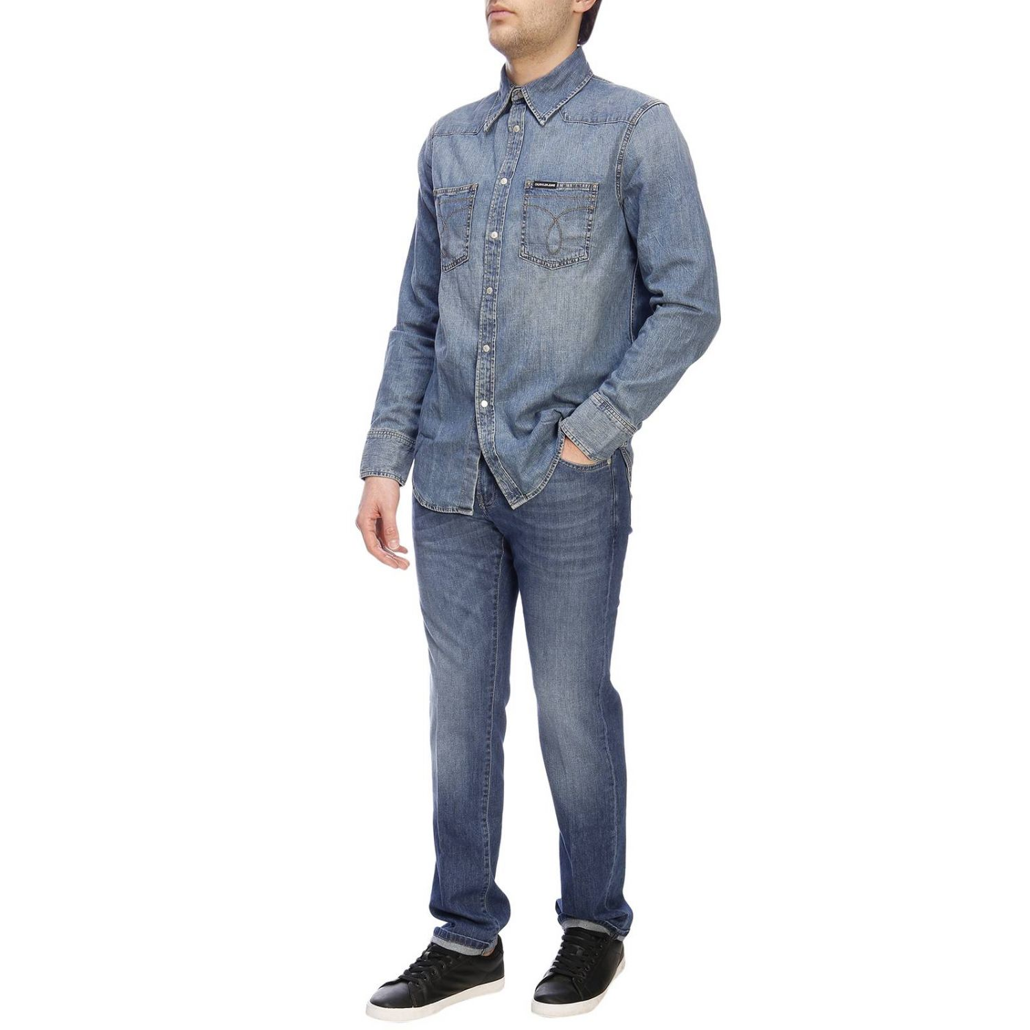 Camicia Calvin Klein Jeans in denim used denim 5