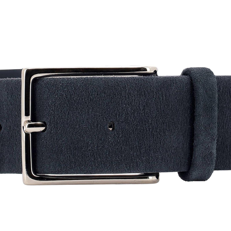 Cintura Orciani: Cintura Orciani classica in camoscio con fibbia metallica blue 2