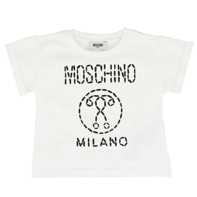 T-shirt kids Moschino Kid white 1