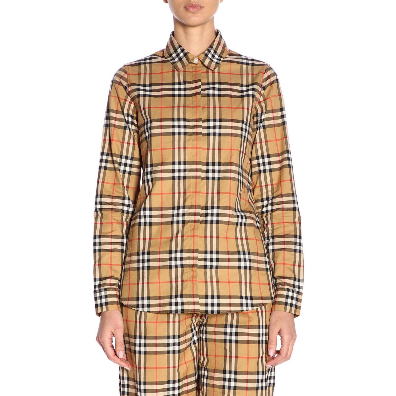 Shirt women Burberry camel 1