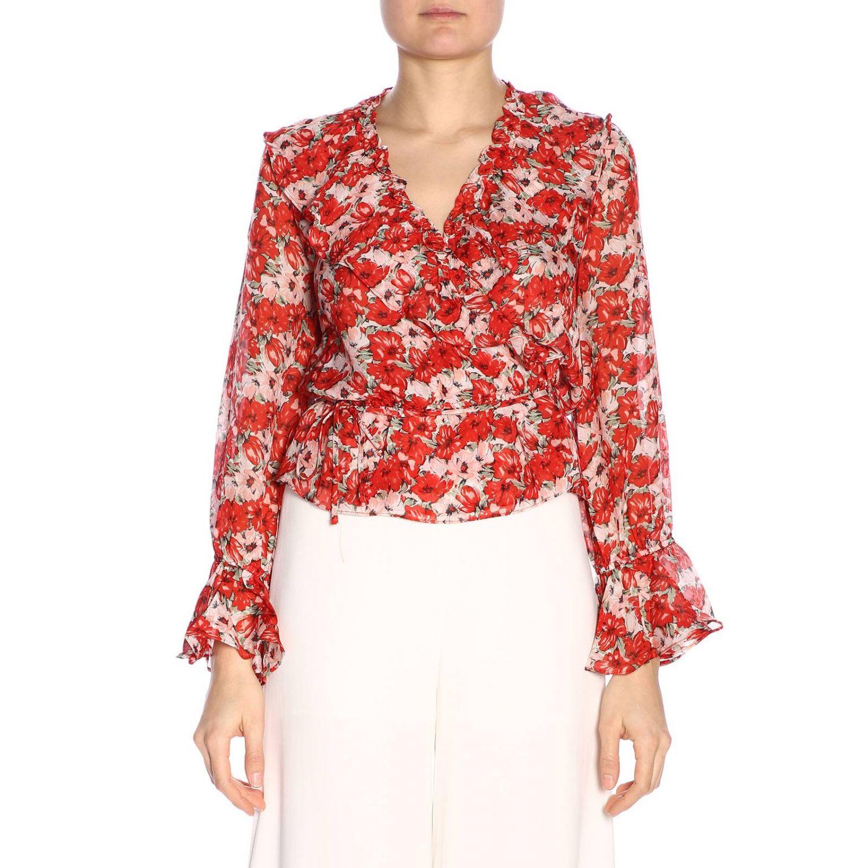 Shirt women Rixo London red 1