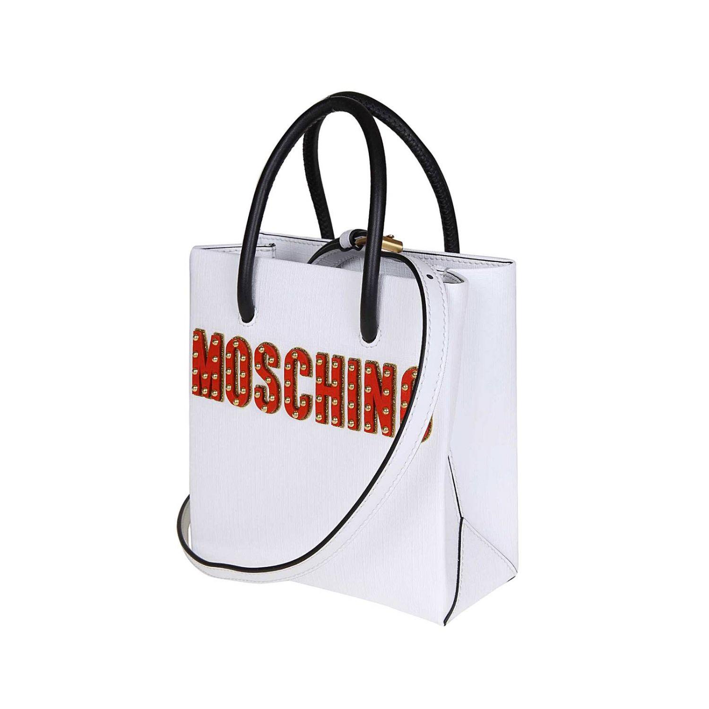 Shoulder bag women Moschino Couture white 3