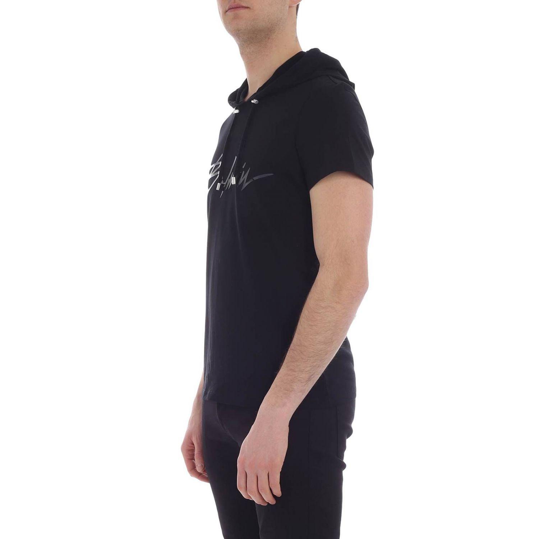 T-shirt Balmain: T-shirt homme Balmain noir 1 2