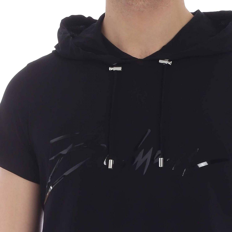 T-shirt Balmain: T-shirt homme Balmain noir 1 4