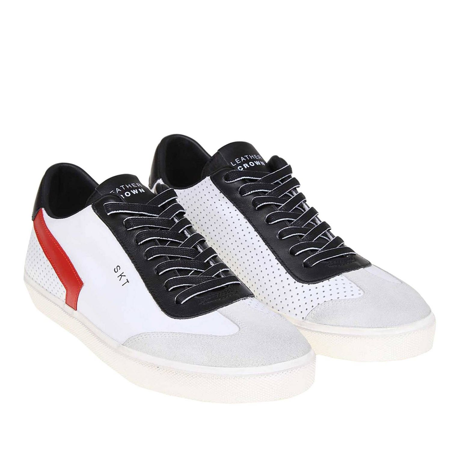 Trainers men Leather Crown white 2
