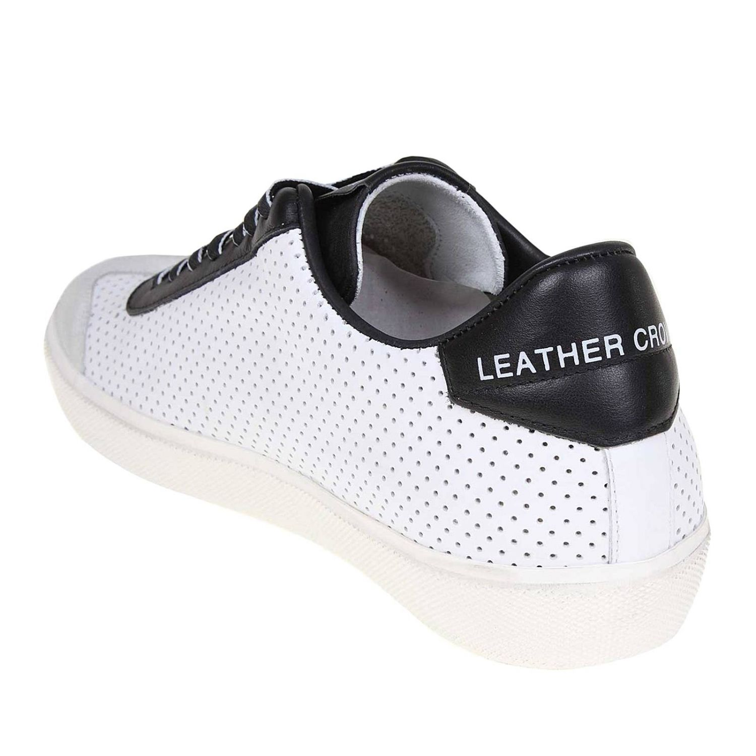 Trainers men Leather Crown white 4