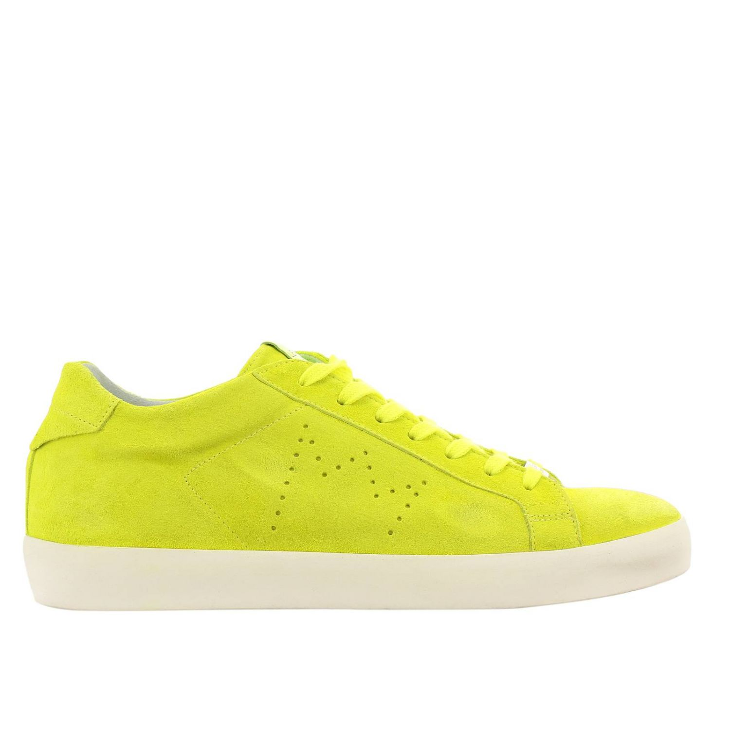 Trainers men Leather Crown yellow 1