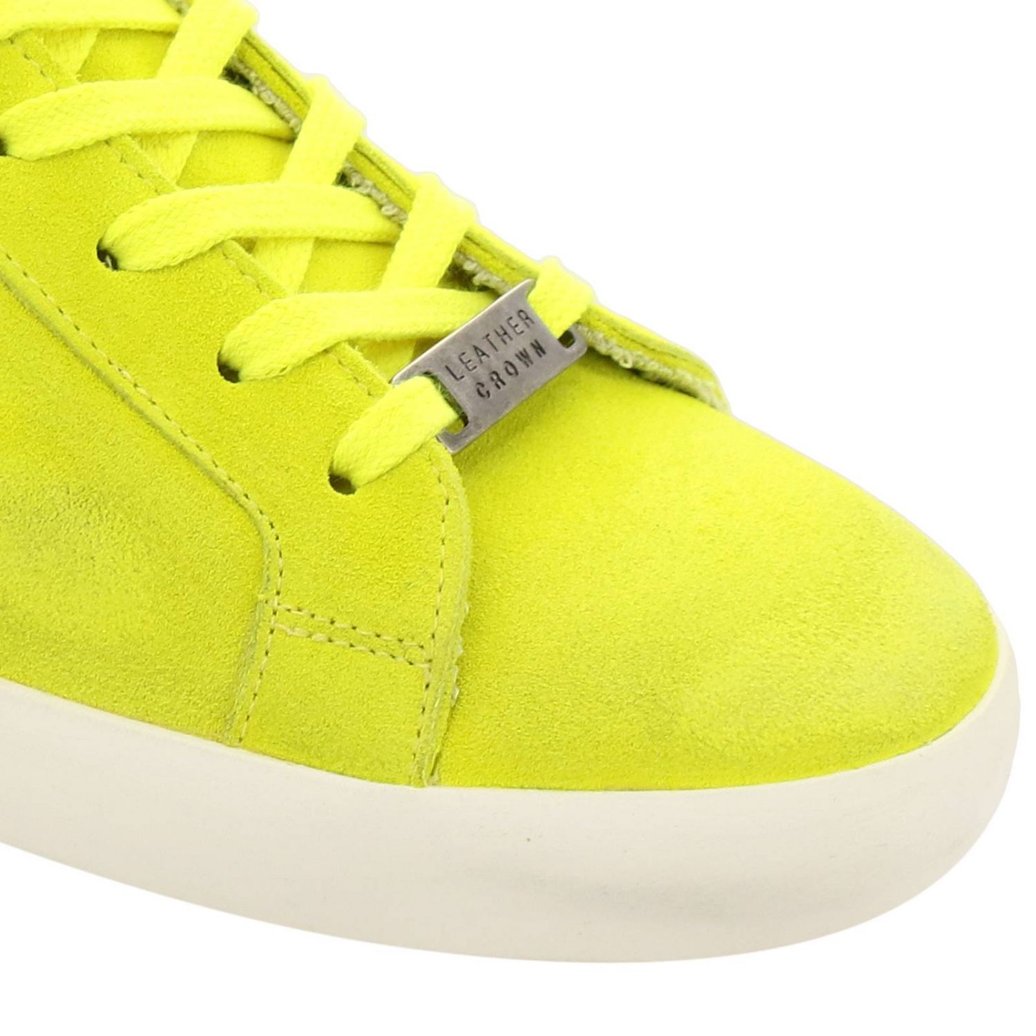 Trainers men Leather Crown yellow 2