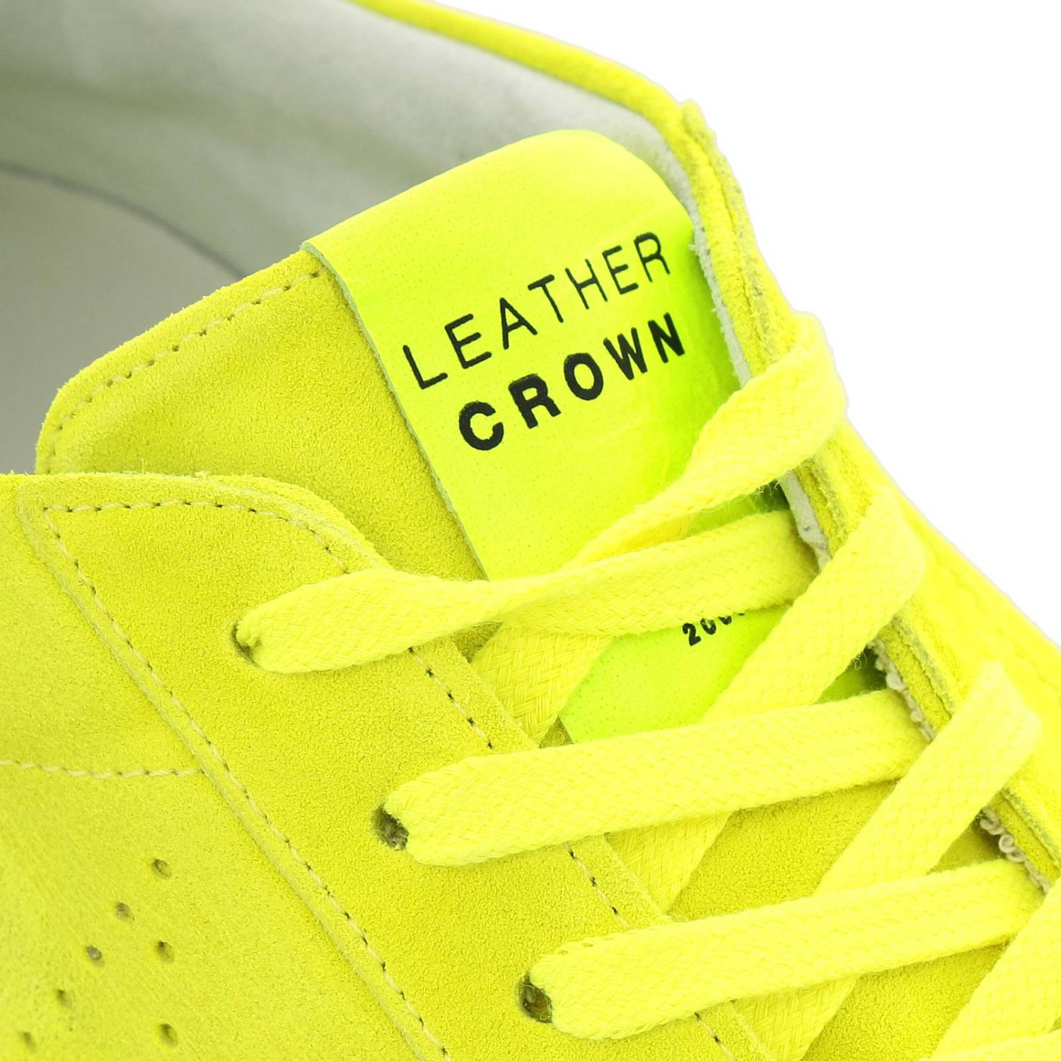 Trainers men Leather Crown yellow 3