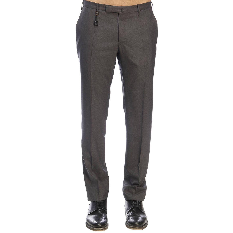 Pantalone Incotex classico a vita bassa grigio 1