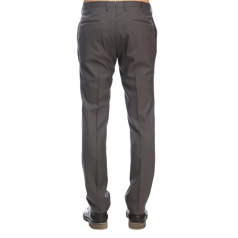 Pantalone Incotex classico a vita bassa grigio 3