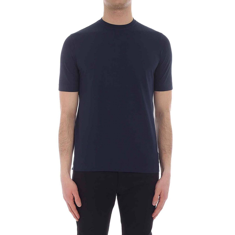 T-shirt Zanone a maniche corte basic blue 1 1