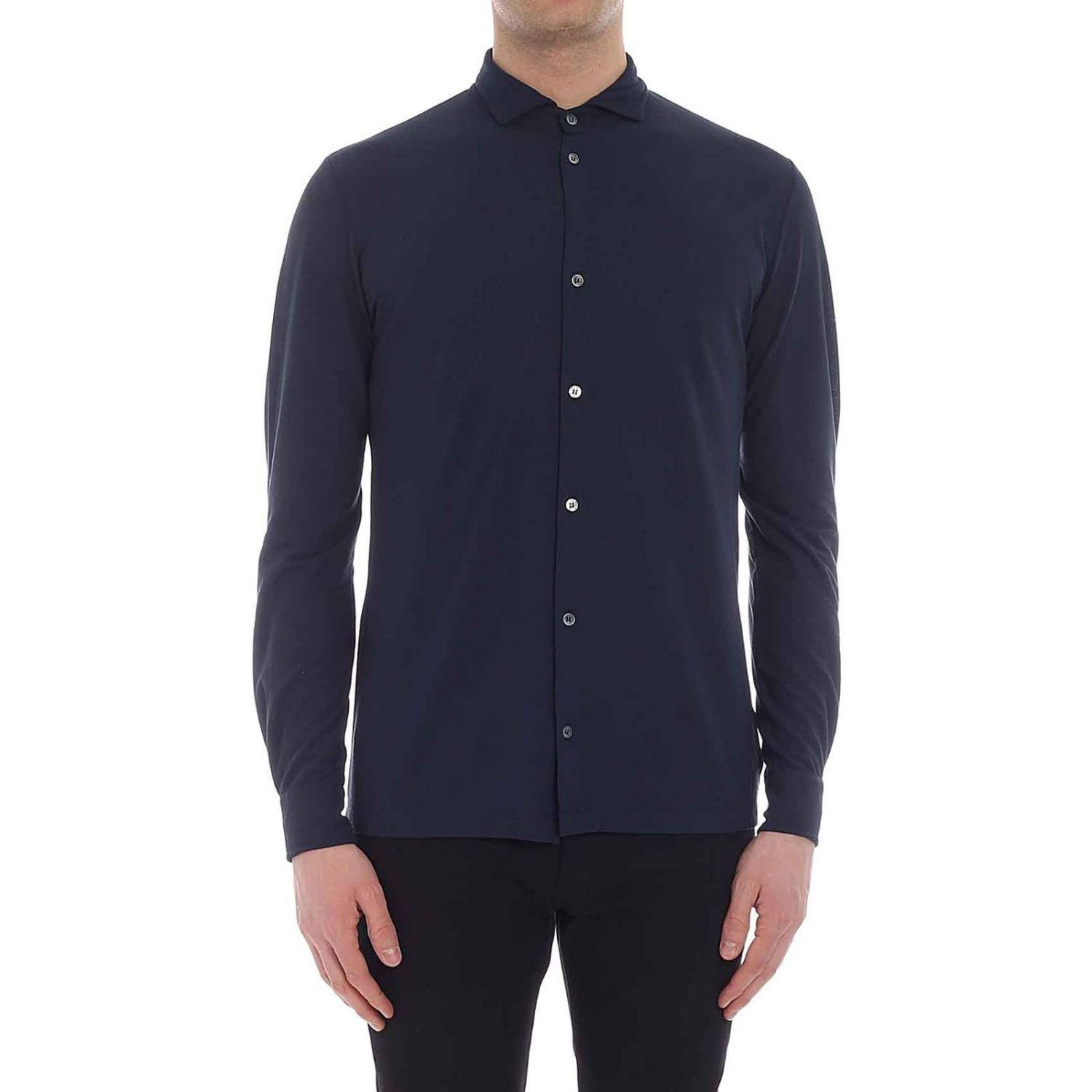 Shirt men Zanone blue 1 1
