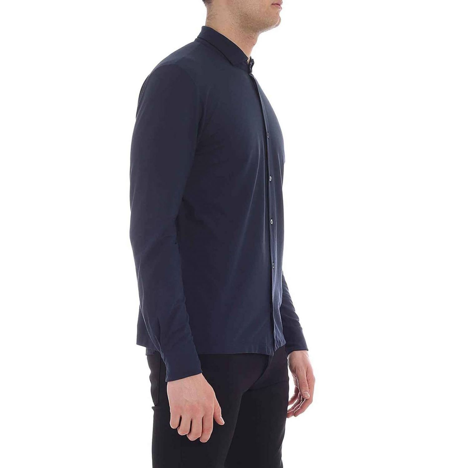 Shirt men Zanone blue 1 2