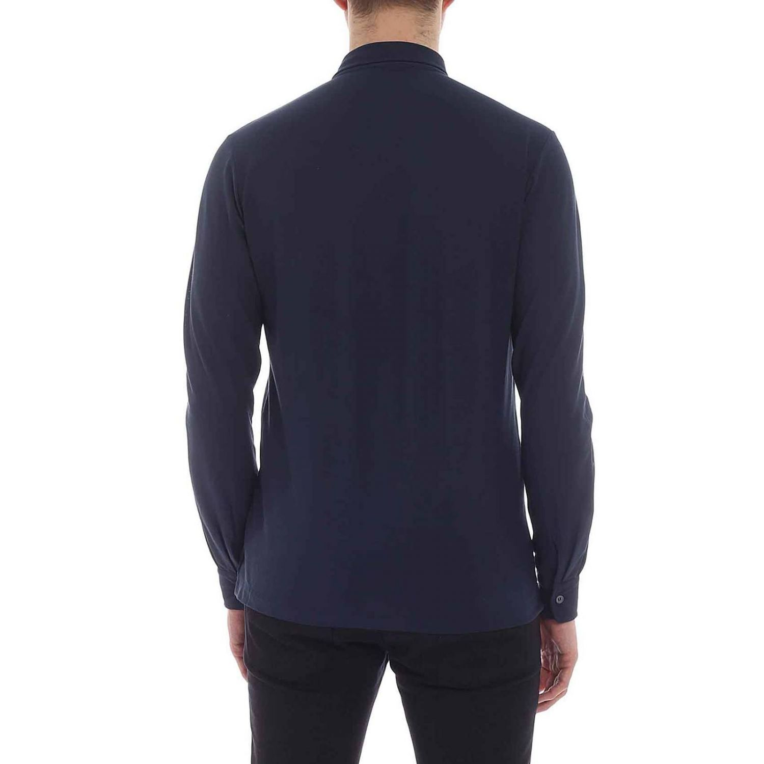 Shirt men Zanone blue 1 3