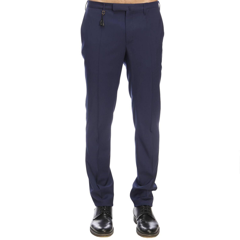 Pantalone Incotex classico a vita bassa inchiostro 1