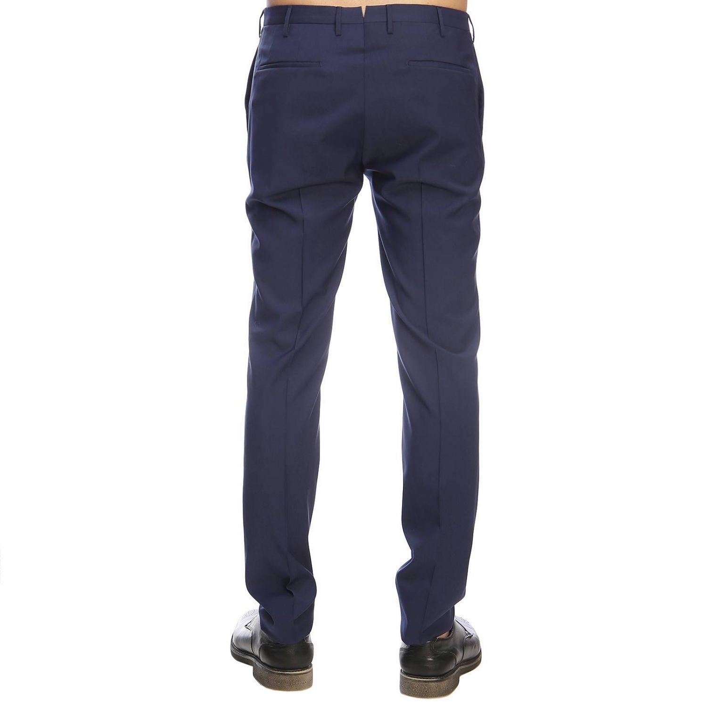 Pantalone Incotex classico a vita bassa inchiostro 3