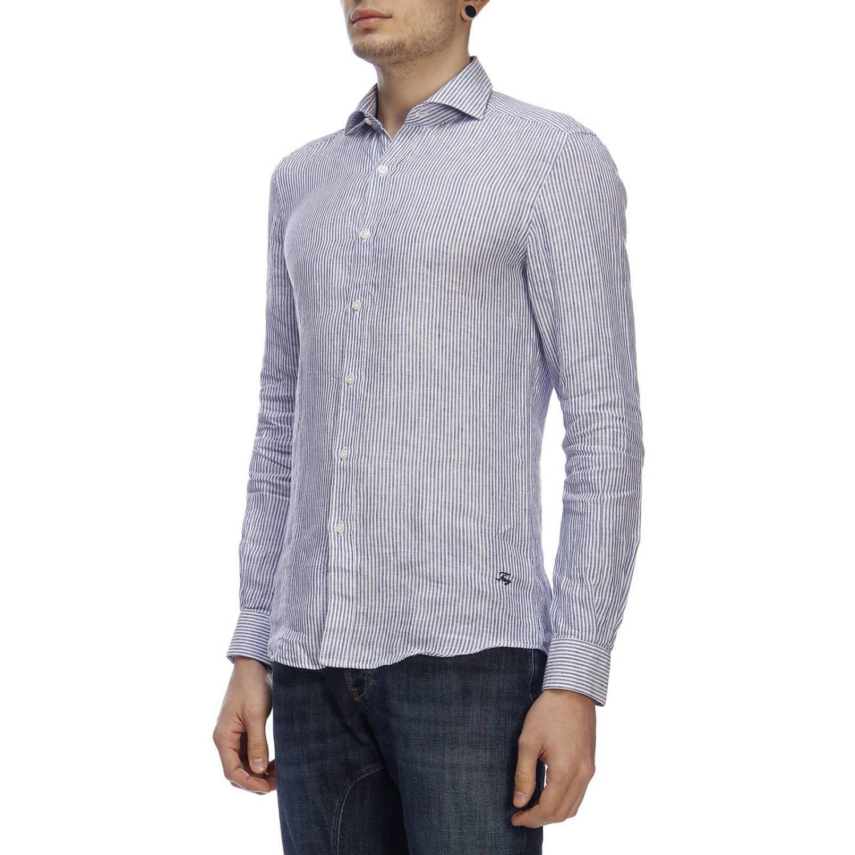 Shirt men Fay gnawed blue 2