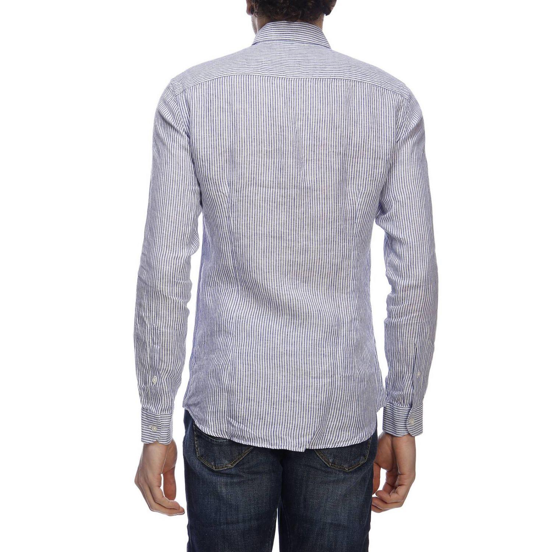 Shirt men Fay gnawed blue 3