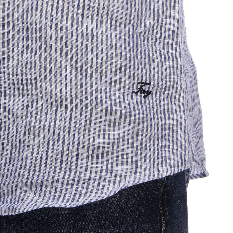 Shirt men Fay gnawed blue 4