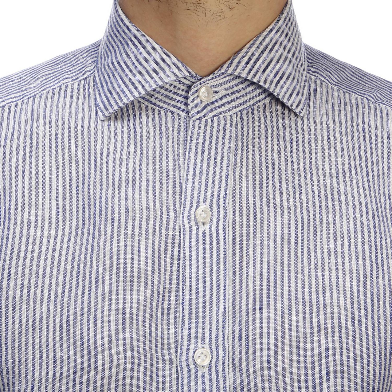Shirt men Fay gnawed blue 5