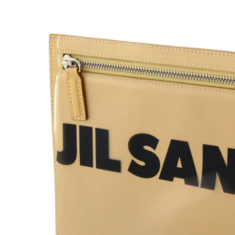 Sac porté main femme Jil Sander beige 4