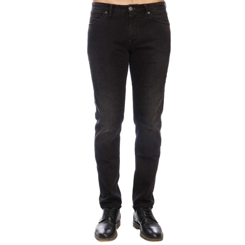牛仔裤 男士 Pt 黑色 1