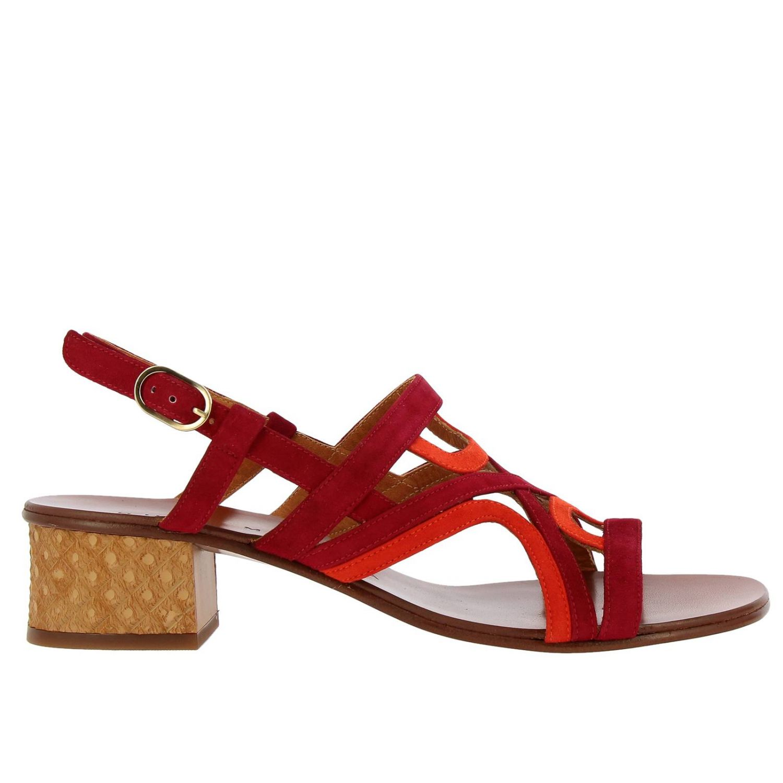 Sandalo Quesada Chie Mihara in camoscio bicolor intrecciato fantasia 1
