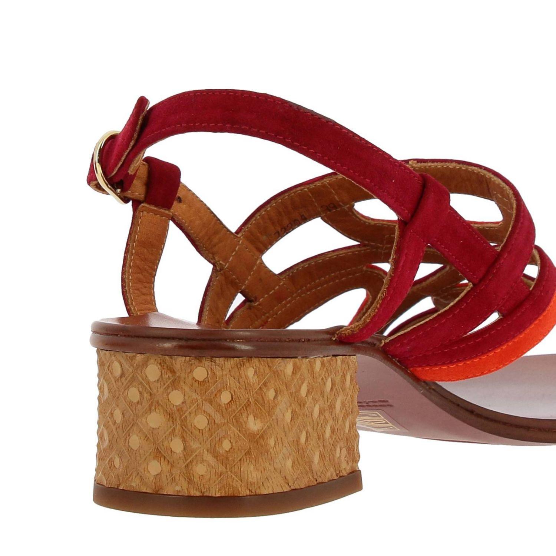 Sandalo Quesada Chie Mihara in camoscio bicolor intrecciato fantasia 4