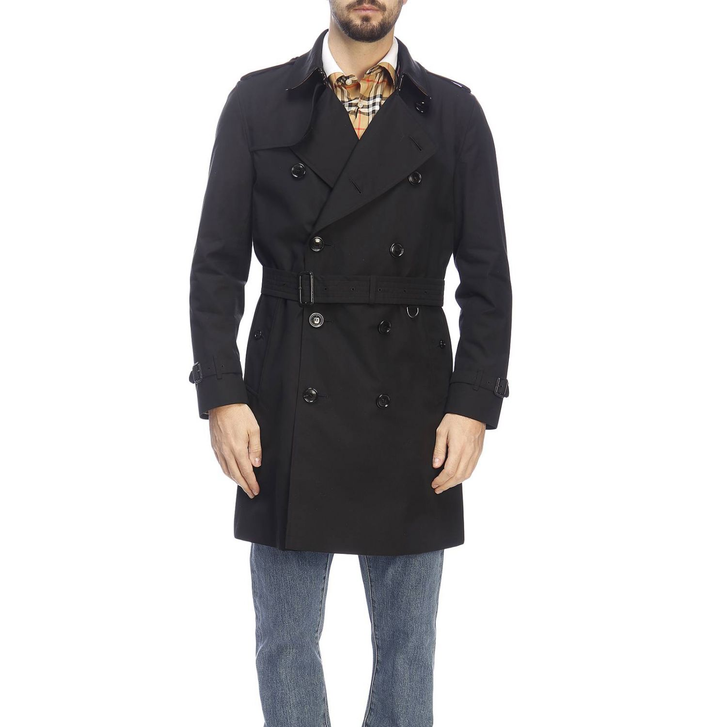 Trench Burberry: Trench homme Burberry noir 1
