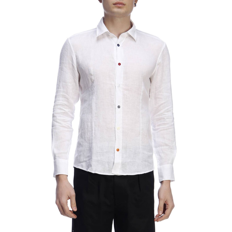 Рубашка Daniele Alessandrini: Рубашка Мужское Daniele Alessandrini белый 1