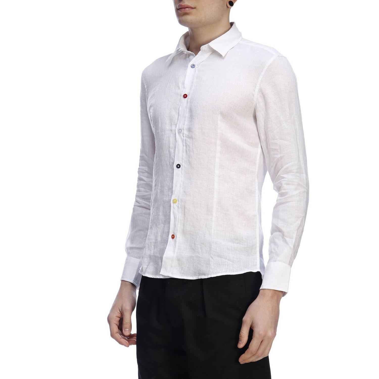 Рубашка Daniele Alessandrini: Рубашка Мужское Daniele Alessandrini белый 2