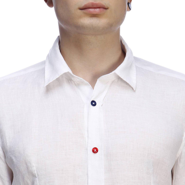 Рубашка Daniele Alessandrini: Рубашка Мужское Daniele Alessandrini белый 4